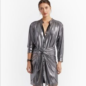 🆕Rebecca Minkoff willow metallic dress. Size M